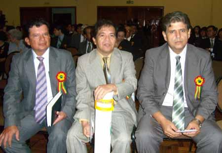 Alcalde, Angel Cosio y Subprefecto Agustín Vargas