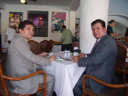 Alcalde y Angel Cosio
