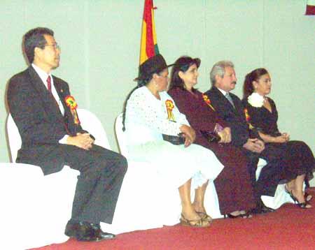 Nagakani, Sabina Cuellar, Rubén Costas, esposa de Oscar Ortiz