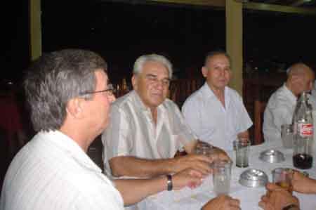 Alfonso López, Carmelo Lens y Rubén Franco
