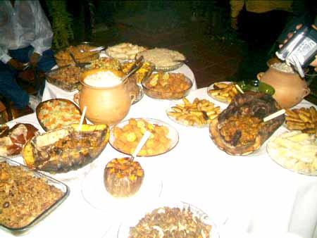 buffet de comidas típicas