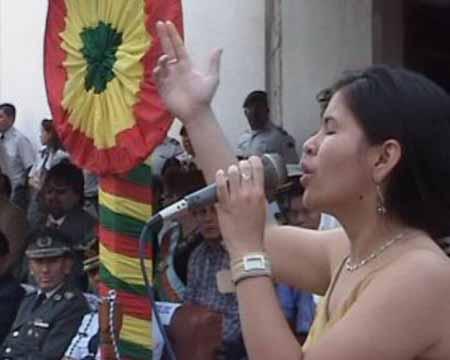 declamación de Magdalena Chavez Colegio A. Vaca Diez