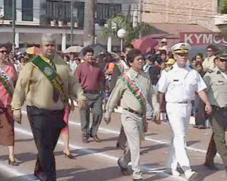 Inicio de Desfile