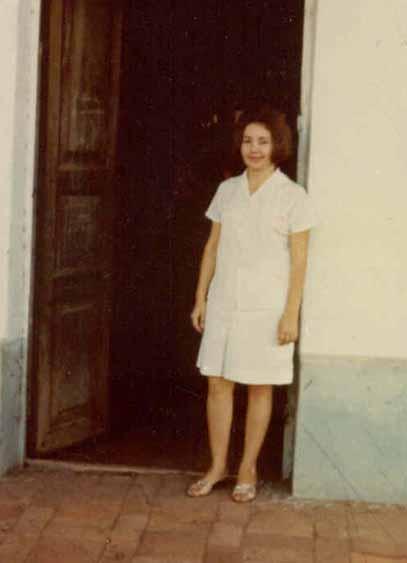 Muchi Abitn Agente del Banco agrícola foto tomada en 1965 por Judy Herr voluntaria del Cuerpo de Paz