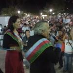 Alicia Inchauste, presidenta del Concejo y el alcalde Mauro Cambero